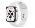 Смарт часы Apple Watch SE GPS 44mm Aluminum Case with Sport Band Серебристый/Белый