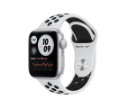Смарт часы Apple Watch SE GPS 40mm Aluminum Case with Nike Sport Band Серебристый/Чистая платина/Черный