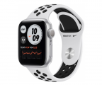 Смарт часы Apple Watch Series 6 GPS 40mm Aluminum Case with Nike Sport Band Серебристый/Чистая платина/Черный