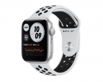 Смарт часы Apple Watch SE GPS 44mm Aluminum Case with Nike Sport Band Серебристый/Чистая платина/Черный