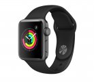 Смарт часы Apple Watch Series 3 38mm Aluminum Case with Sport Band Space Gray/Black