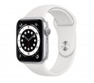 Смарт часы Apple Watch Series 6 GPS 44mm Aluminum Case with Sport Band Серебристый/Белый